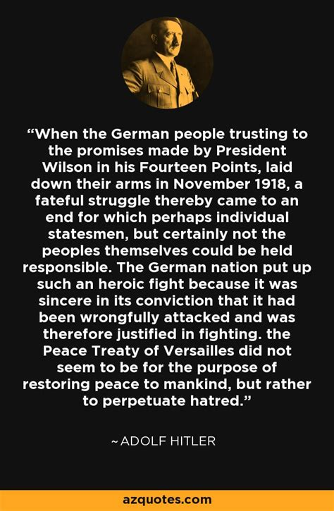 adolf hitler quote   german people trusting   promises