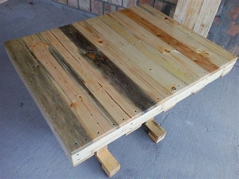 recycled pallet dining table pallet dining table diy 99 pallets