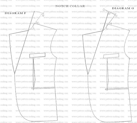 pattern drafting notches how to draft men notch collar pattern making com