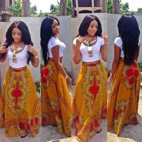 african attire skirt green harvest long african dashiki skirt ooak by
