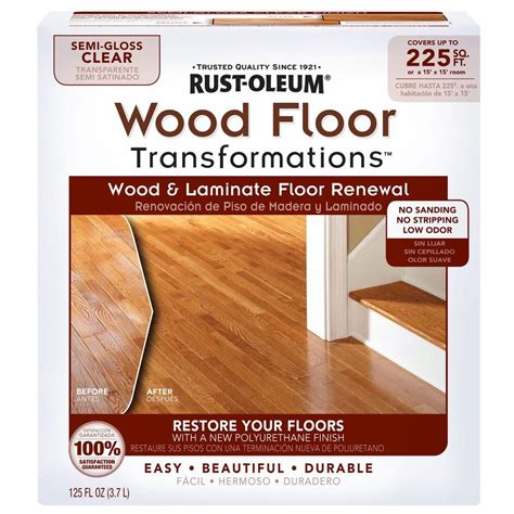 Hardwood Floor Refinishing Products Rust Oleum Transformations Floor Wood And Laminate Renewal Kit 269597 The Home Depot