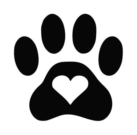 Dog Paw Silhouette Free Download Best Dog Paw Silhouette On Clipartmag Com Paw Print Silhouette