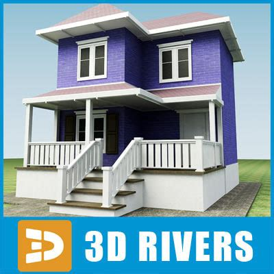 model house building 3d small town house building model