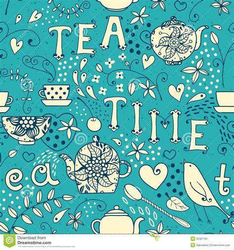 pattern html time tea time pattern vector illustration cartoondealer com