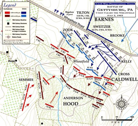 gettysburg map battle of gettysburg the wheatfield