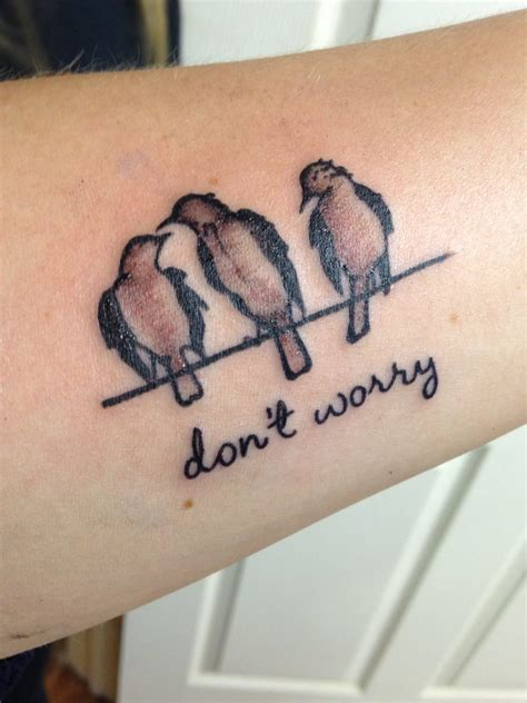 meaningful word tattoos meaningful word with birds creativefan