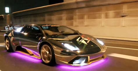 Crazy LED Covered Lambos Cruise the Streets of Tokyo