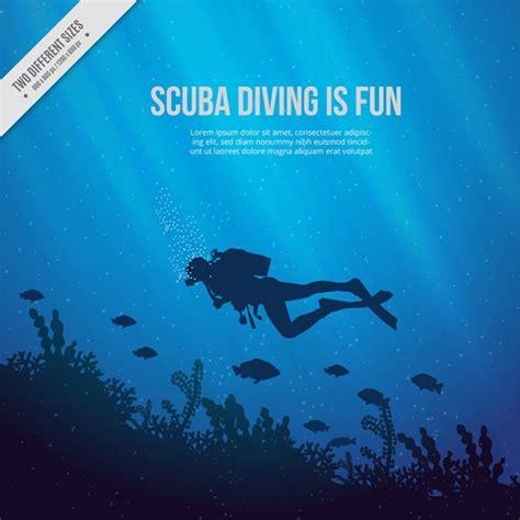 dive gratis fondo mare con scuba diver e alghe sfondo