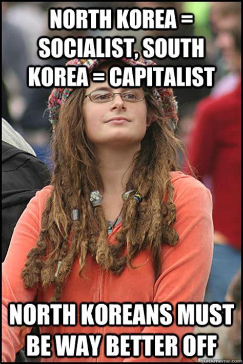 North Korea South Korea Meme - north korea socialist south korea capitalist north