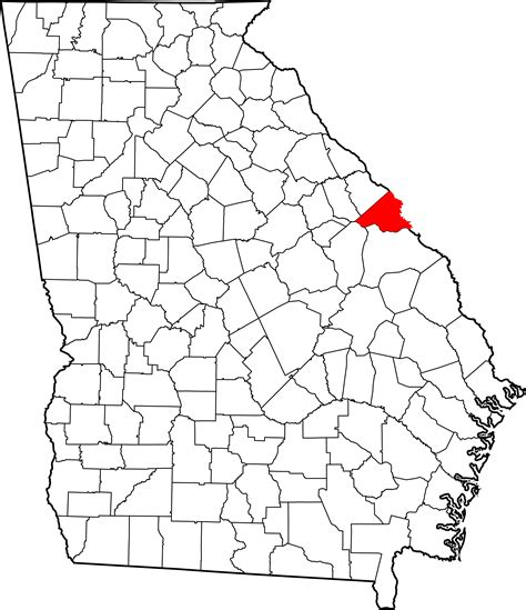 map of richmond county ga file map of highlighting richmond county svg