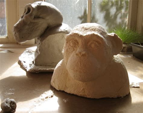 How To Make A Paper Mache Bust - chimpanzee bust a paper mache clay experiment ultimate