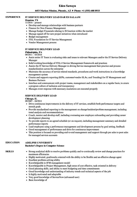 service delivery manager resume sle configuration management analyst sle resume 11 unique