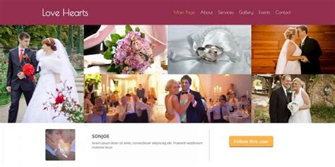 34 Best Free Wedding Html Website Templates 2018 Best Free Wedding Website Templates