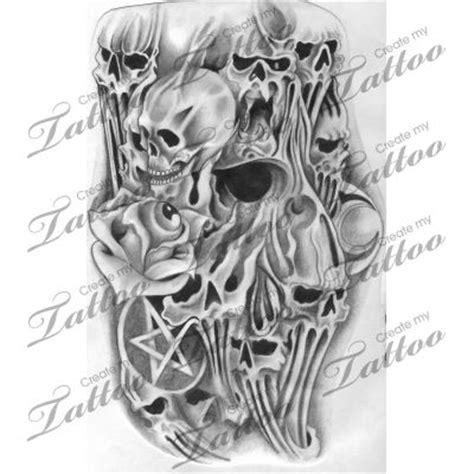 tattoo design marketplace marketplace tattoo stretching skulls with rose 4827