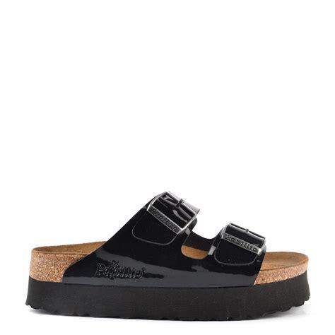 platform birkenstock sandals papillio arizona black platform sandal at brand boudoir