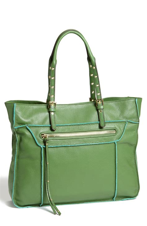 steven by steve madden leather tote in green lime lyst