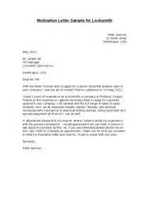 motivation letter sle for locksmith hashdoc