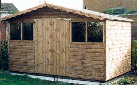 Garden Shed 12x8 by 12x8 Chalet Syle Shed With Doors By Sheds Unlimited