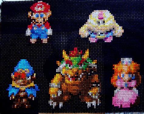 Kaos Seven 8bit Megaman 2 mario rpg cross stitch by pixel8bit on deviantart