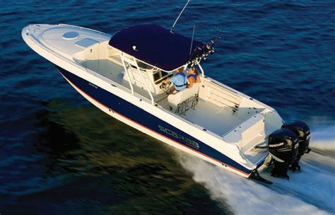 scarab boats specs wellcraft 35 scarab review fast fishing fun boats