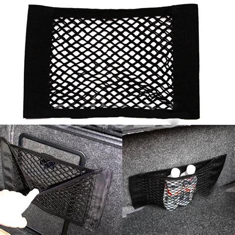 Jaring Belakang Belakang Mobil kantong aksesoris kursi mobil jaring jaring velcro 40cm x 25 cm black jakartanotebook
