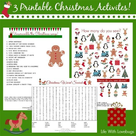 christmas activity printables life with lovebugs