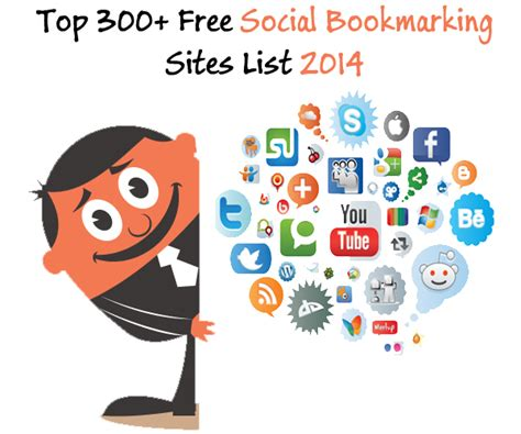 social bookmarking sites list 2014 top 300 free social bookmarking sites list 2014 15