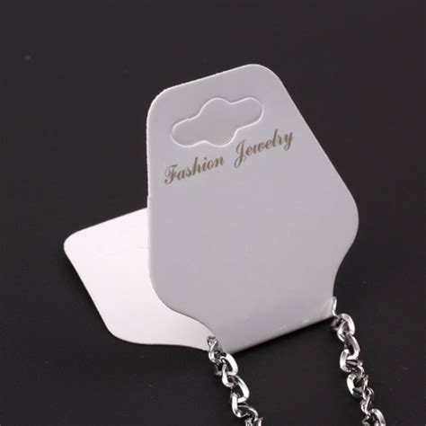 100 Pcs Whitejewelry Label Necklace Bracelet Price Tags Ebay Jewelry Tag Template