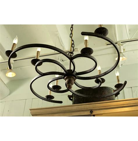 Low Profile Chandelier Griffin Rustic Spiral Iron Low Profile 8 Light Chandelier Kathy Kuo Home