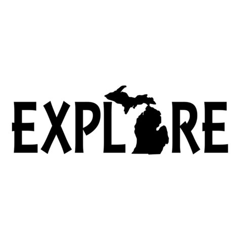Cool And Designer State Of by Explore Michigan Vinyl Car Decal Michigan Decals