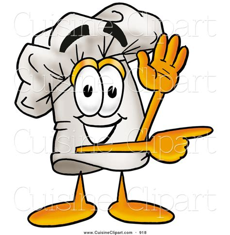 cuisine clipart of a smiling chefs hat mascot