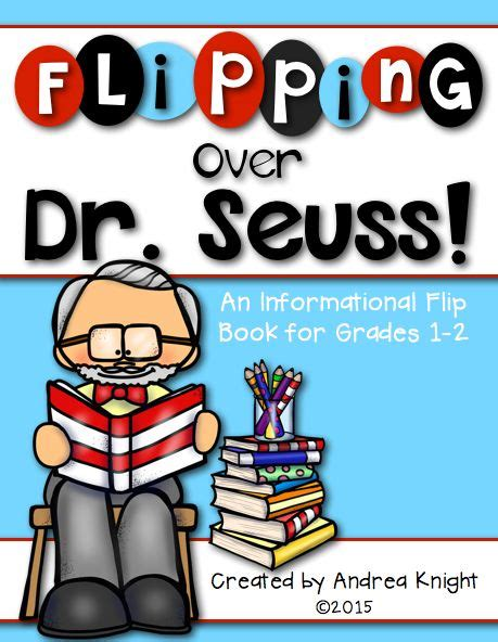 biography flip book project flipping over dr seuss a biography flip book for grades