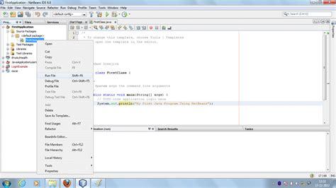 html design using netbeans a z about java first java program using netbeans ide
