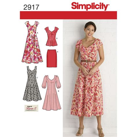 pattern for net dress pattern for misses plus size dresses simplicity