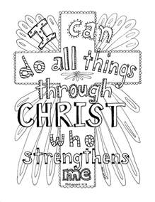 Coloring Book Cd Philippians 4 13 Scripture Coloring Page Coloring Book