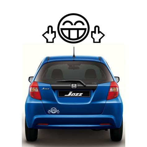 Sticker Anime Gara Decal Edisi Brio Honda jual sticker jdm smile middle fingers diskon termurah