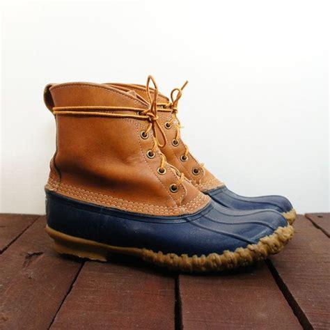 vintage ll bean duck boots preppy bean boots brown