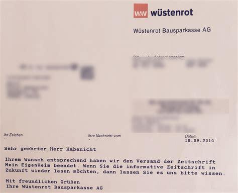 Muster Abofalle Zeitschrift Mein Eigenheim K 252 Ndigen Bausparvertrag W 252 Stenrot