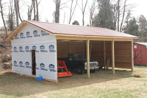 Diy Pole Shed by How To Build A Small Pole Barn Plans Woodworking