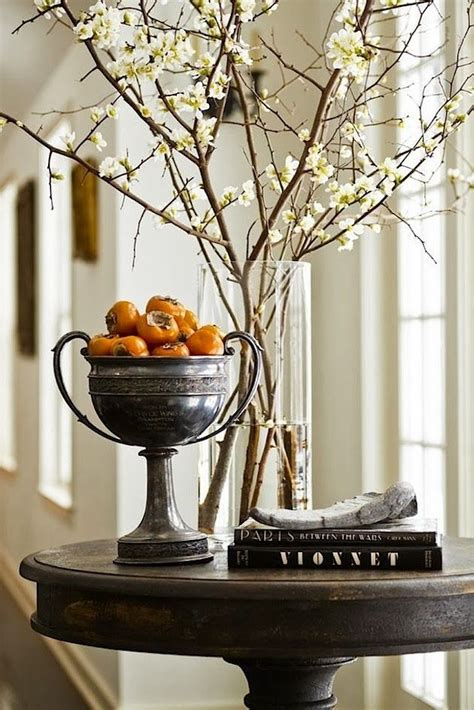 an autumn entry via savor home vignettes