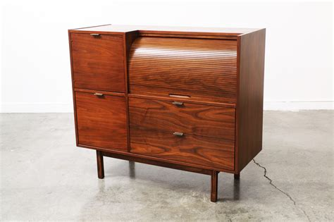 roll top storage cabinet mid century roll top storage cabinet by hooker vintage