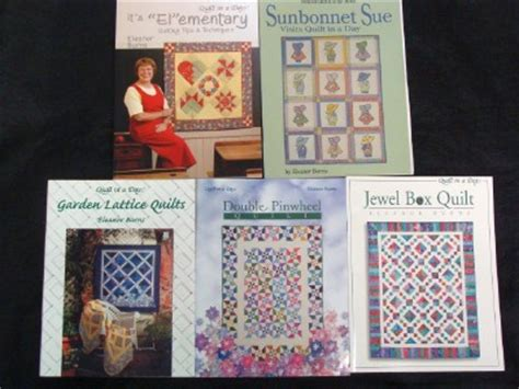 Eleanor Burns Quilting Books by Lot Of 5 Eleanor Burns Quilt Books Quilt In A Day Ebay