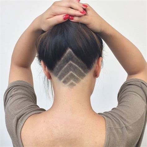 women shaving styles back undercut hairstyle female