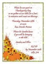 free thanksgiving invitation wording for 99 162 dinner invites