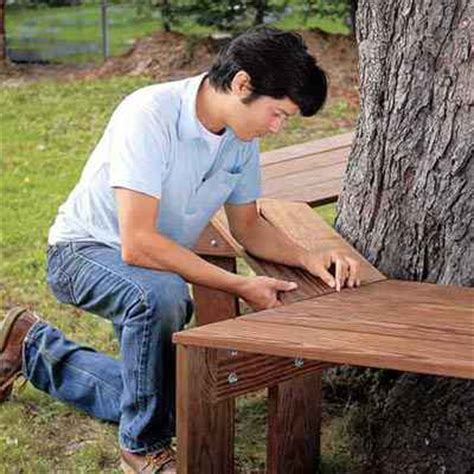 build a tree bench 18 impressive diy garden benches