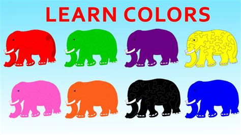 color kid learn elephant colors teach elephant picture