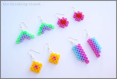 Bead Your Own Sassy Earrings Or Someone Do It For You Either Way Its Your Choice At Designer Fashiontribes Fashion by Perler Bead Earrings A 10 Minute Craft The Thinking Closet