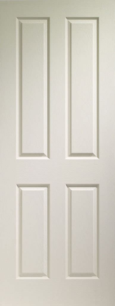 Interior Door White 4 Panel Textured White Primed Door