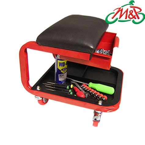 motorcycle car workshop garage creeper seat with wheels new