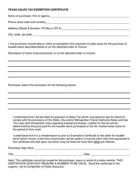 Blanket Exemption Certificate Ohio by 10 Best Images Of Sales Tax Exemption Certificate